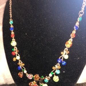 Multi-colored stone statement necklace. NWT